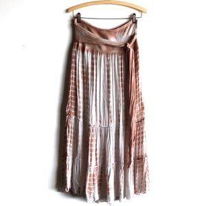 Lapis blush pink tie dye maxi skirt